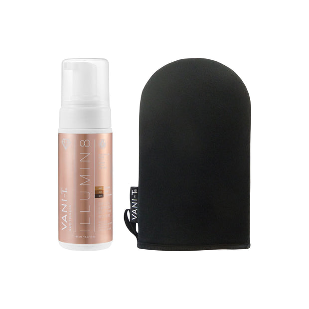Illumin8 Dry Oil Express Self Tan Mousse + Bronzing Mitt - Self Tan Applicator - SAVE 15%
