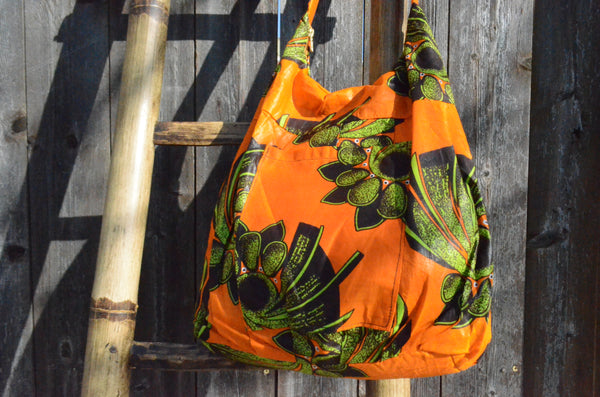 Tropical Fruits in Orange - Malawi Bag