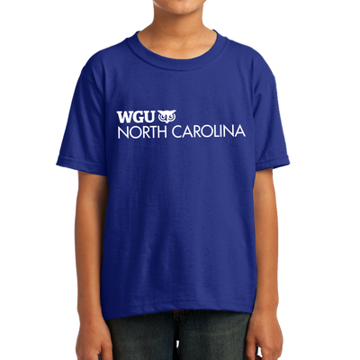 Youth Fruit of the Loom HD Cotton 100% Cotton T-Shirt - North Carolina
