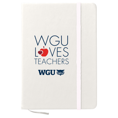 WGU Loves Teachers 80 page Journal Notebook