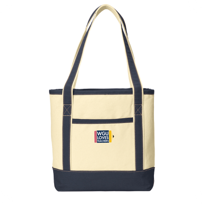 Teachers- Port Authority® Medium Cotton Canvas Boat Tote - WGU Clearance