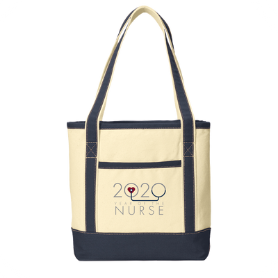 2020 Year Of The Nurse- Port Authority® Medium Cotton Canvas Boat Tote - WGU Clearance