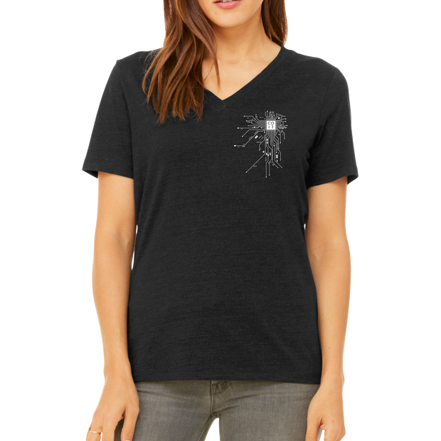 BELLA+CANVAS ® Women's Relaxed Jersey Short Sleeve V-Neck Tee WGU - COIT