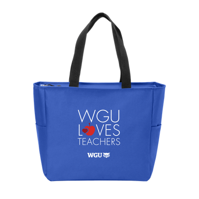 Port Authority Essential Zip Tote - WGU Loves Teachers - WGU Clearance