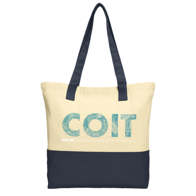 Port Authority® Colorblock Cotton Tote WGU - COIT