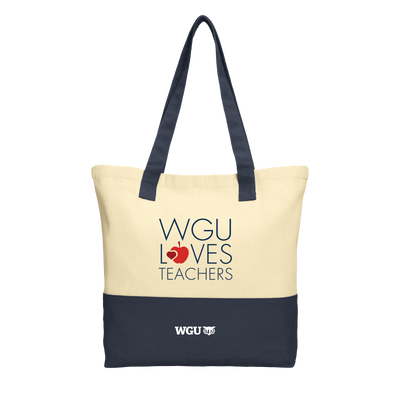 Port Authority® Colorblock Cotton Tote - WGU Loves Teachers