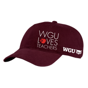 Port & Company® - Brushed Twill Low Profile Cap - WGU Loves Teachers
