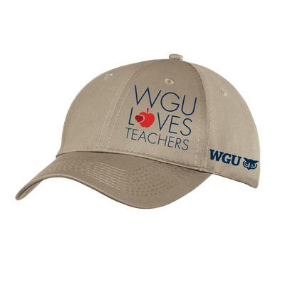 Port & Company® - Six-Panel Twill Cap - WGU Loves Teachers