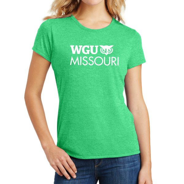 District Made® Ladies Perfect Tri® Crew Tee - Missouri