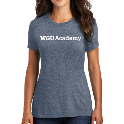 District Made® Ladies Perfect Tri® Crew Tee - WGU Academy