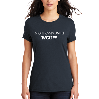 WGU Night Owls Unite- District Made® Ladies Perfect Tri® Crew Tee