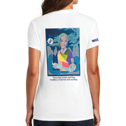 Graphic Year Of The Nurse District Made® Ladies Perfect Tri® Crew Tee