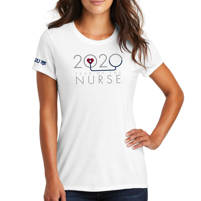 2020 Year Of The Nurse District Made® Ladies Perfect Tri® Crew Tee - WGU Clearance