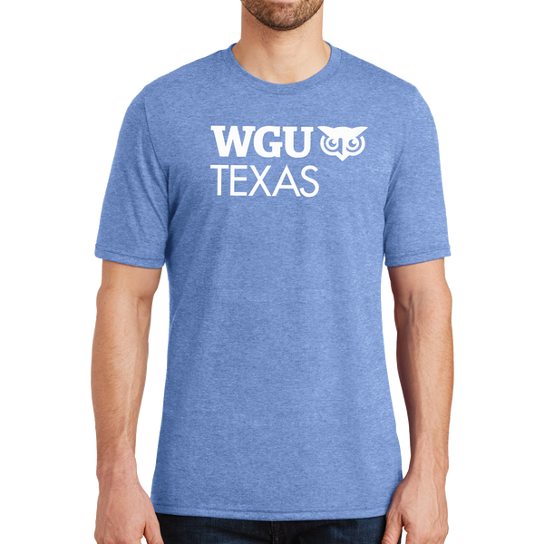 District® - Young Mens Tri-Blend Crew Neck Tee - Texas