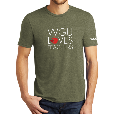 District® - Young Mens Tri-Blend Crew Neck Tee - WGU Loves Teachers