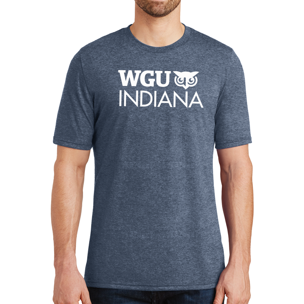 District® - Young Mens Tri-Blend Crew Neck Tee - Indiana