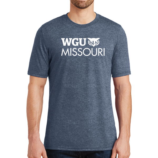 District® - Young Mens Tri-Blend Crew Neck Tee - Missouri