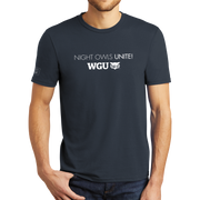 WGU Night Owls Unite- District® - Young Mens Tri-Blend Crew Neck Tee