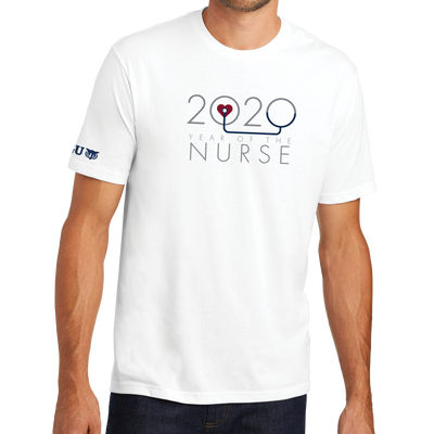 2020 Year Of The Nurse District® - Young Mens Tri-Blend Crew Neck Tee