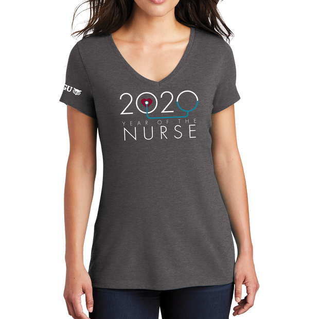2020 Year Of The Nurse District Made® Ladies Perfect Tri® V-Neck Tee