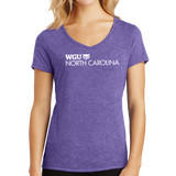 District Made Ladies Perfect Tri V-Neck Tee - North Carolina