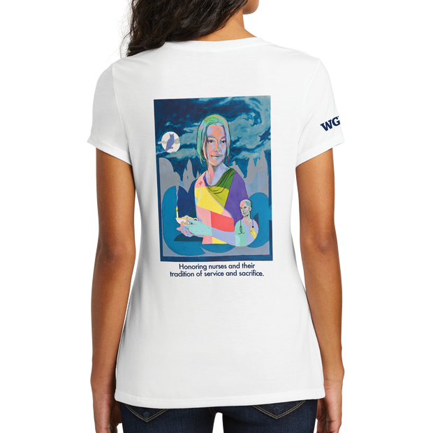 Graphic Year Of The Nurse District Made® Ladies Perfect Tri® V-Neck Tee