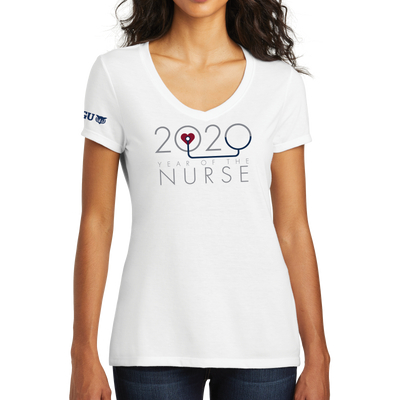 2020 Year Of The Nurse District Made® Ladies Perfect Tri® V-Neck Tee - WGU Clearance