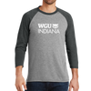 District Made® Mens Perfect Tri® 3/4-Sleeve Raglan - Indiana