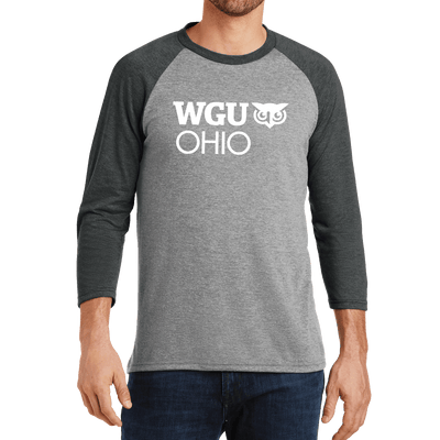 District Made® Mens Perfect Tri® 3/4-Sleeve Raglan - Ohio