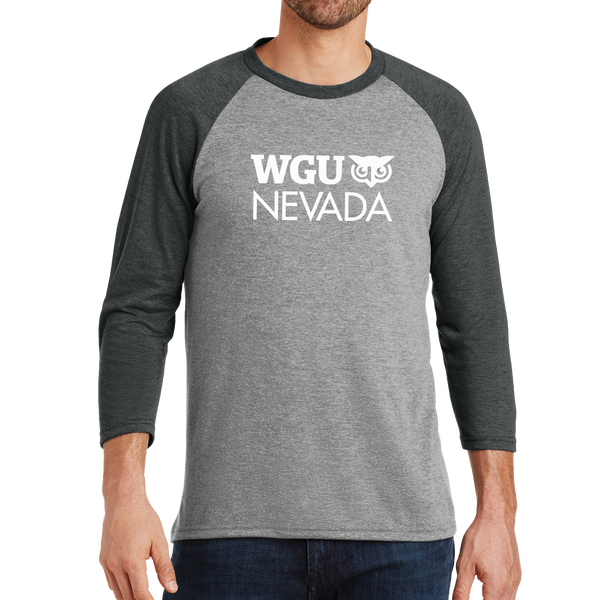 District Made® Mens Perfect Tri® 3/4-Sleeve Raglan - Nevada