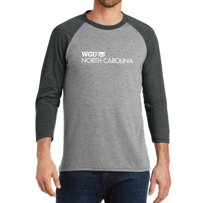 District Made® Mens Perfect Tri® 3/4-Sleeve Raglan - North Carolina
