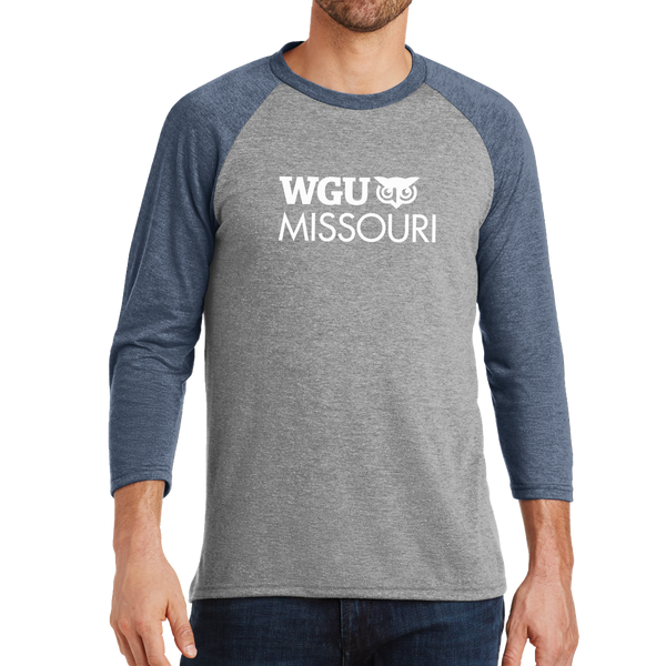 District Made® Mens Perfect Tri® 3/4-Sleeve Raglan - Missouri