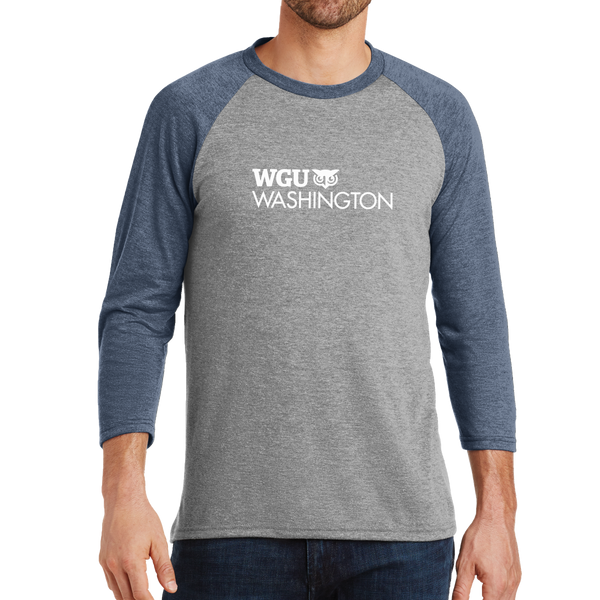 District Made® Mens Perfect Tri® 3/4-Sleeve Raglan - Washington