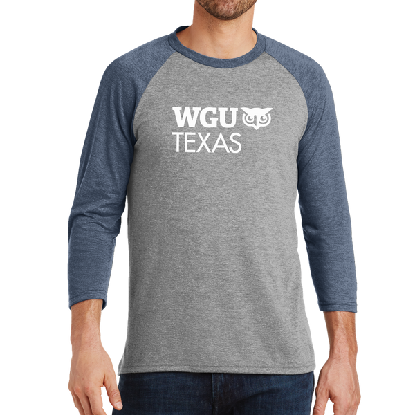 District Made® Mens Perfect Tri® 3/4-Sleeve Raglan - Texas