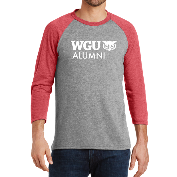 District Made® Mens Perfect Tri® 3/4-Sleeve Raglan - Alumni