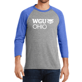 District Made Mens Perfect Tri 3/4-Sleeve Raglan - Ohio