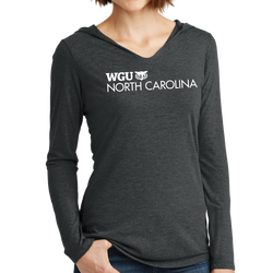 District Made Ladies Perfect Tri Long Sleeve Hoodie - North Carolina