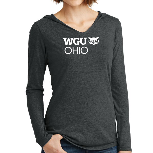 District Made® Ladies Perfect Tri® Long Sleeve Hoodie - Ohio