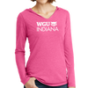 District Made® Ladies Perfect Tri® Long Sleeve Hoodie - Indiana
