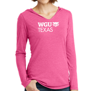 District Made® Ladies Perfect Tri® Long Sleeve Hoodie - Texas