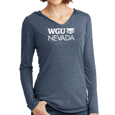 District Made® Ladies Perfect Tri® Long Sleeve Hoodie - Nevada