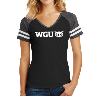 District Made® Ladies Game V-Neck Tee - WGU Clearance