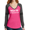 District Made® Ladies Game Long Sleeve V-Neck Tee - Indiana