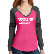 District Made® Ladies Game Long Sleeve V-Neck Tee - Alumni