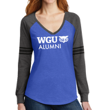 NEW District Made® Ladies Game Long Sleeve V-Neck Tee