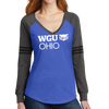 District Made® Ladies Game Long Sleeve V-Neck Tee - Ohio