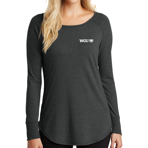 District Women's Perfect Tri Long Sleeve Tunic Tee