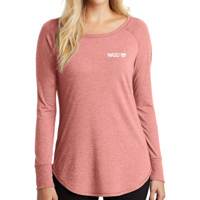District Women's Perfect Tri Long Sleeve Tunic Tee-Commencement