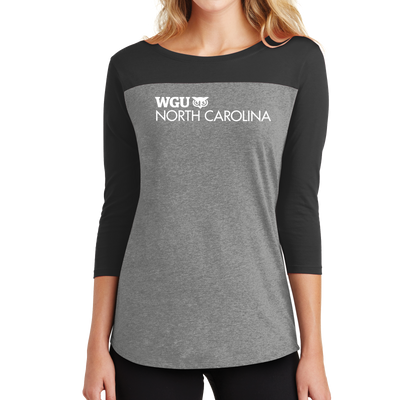 District ® Women's Rally 3/4-Sleeve Tee- North Carolina