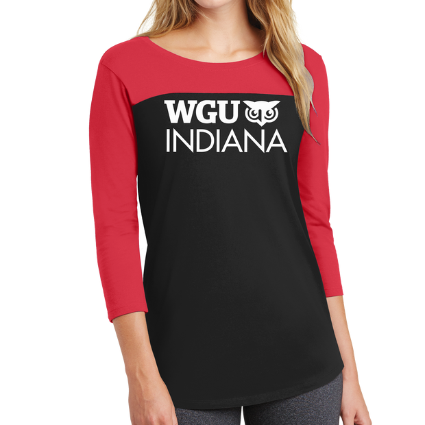 District ® Women's Rally 3/4-Sleeve Tee - Indiana